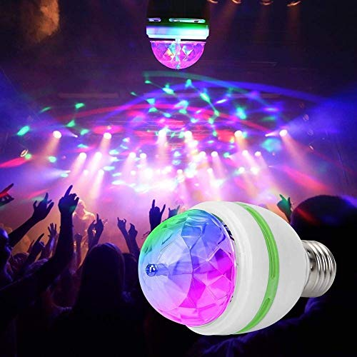 MG SALESS ShopTric Magic Disco LED Rotating Bulb Light Lamp for Home and Party Decoration
