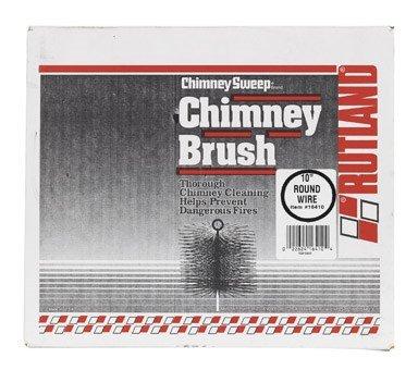 Rutland 16410 Round Wire Chimney Sweep Brush, 10-Inch