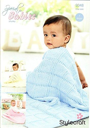 Stylecraft 9348–Patrón para tejer mantas de bebé en Stylecraft especial para bebés Chunky