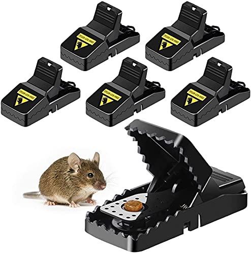Trampa del ratón, las mejores trampas de ratón y ardilla reutilizables que funcionan, las trampas de ratones a presión y la trampa interior con la taza de cebo desmontable, la caja fuerte y sanitaria