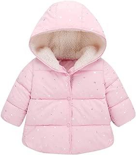 WARMSHOP Boys Girls Long Down Jacket,Lightweight Outwear Winter Thick Warm with Zip Solid Hooded Cloak Coat