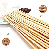 Bamboo Marshmallow Smores Roasting Sticks 30 Inch 5mm Thick Extra Long Heavy Duty Wooden Skewers,...