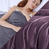 Weighted Blanket con Funda,9.1kg Manta de Peso para Peso Corporal 86-100kg para Adultos Ansiedad,203x221cm,Púrpura