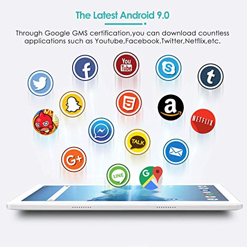 SUMTAB 4G LTE Tablette Tactile 10 Pouces avec Clavier et Souris,Android 9.0,4 Go RAM,64 Go Stockage,Écran Full HD 1280*800,2MP+5MP Double caméra,GPS,WiFi,Bluetooth,Office,Netflix,Google Play