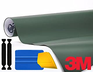 3M 1080 Matte Military Green Air-Release Vinyl Wrap Roll Including Toolkit (2ft x 5ft)