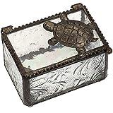 Glass Sea Turtle Jewelry Box (Clear)