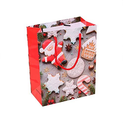 HSKB Papiertüten Kraftpapier Geschenktüten mit Henkel Kraft Tüten Obstbeutel Tüten Geschenkbeutel für Partys/Hochzeiten/Feiern/Papiertüten und Süßigkeiten
