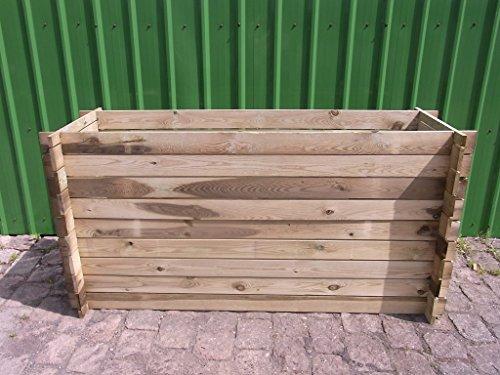 BIHL Stabiler Holzkomposter Komposter Hochbeet 195 x 65 x 94 cm