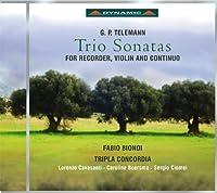Telemann: Trio Sonatas for Recorder, Violin, and Continuo by Cavasanti (2013-05-03)