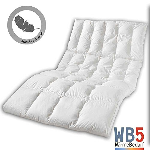 Dormabell Kassettendecke Daunen-Edition WB5, extrem warme Decke der Luxusklasse mit 100% neuen, reinen Daunen Klasse 1, versch. Größen zur Auswahl (Daune, 140 x 200 cm)