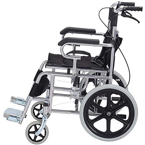 Rolstoel opvouwbare lichte handmatige rolstoel scooter volledige banden rolstoel (kleur: zwart maat: 26in) 20in zwart