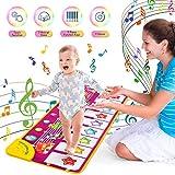 UNEEDE Piano Mat, Kinder Tanzmatten Klaviermatte 7 Tierstimmen Klaviertastatur Spielzeug Touch Musical Teppich Musik Matte Keyboard Matte...