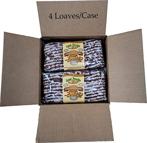 Gourmet Cinnamon Bread | All Natural, Sweet, Delicious, Moist, Unsliced, Freezer Friendly | 1 Case of 4 Loaves (20 oz each) | Sweet Paradise Fine Foods