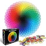 O-Kinee Redondo Puzzle, 1000 Piezas Rompecabezas Redondo, Puzzle Adultos, Puzzle Creativo, Rompecabezas para Niños, Rompecabezas Circular Juguete Intelectual Desafío Intelectual Juegos (Arco Iris)
