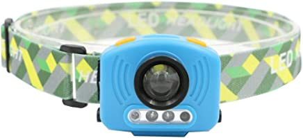 DaQingYuntur Built-in Rechargeable LED Sensor Headlight, 90 Degree Freely Adjustable Head, Adjustable Set Design, Strong Light Illumination - Riding Fishing searchlight