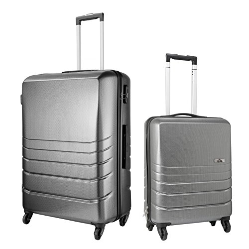 Cabin Max Toronto Luggage Set - Large Case 75x50x30 cm and Cabin Bag 55x40x20cm