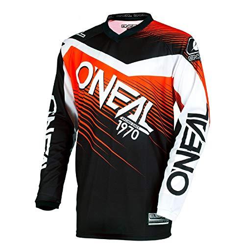 Casacca Mx Oneal 2018 Element Racewear Nero-Arancio (S , Arancio)
