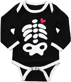 Halloween Jumpsuit,Kid Baby Skull Bone Love Print Cartoon Romper