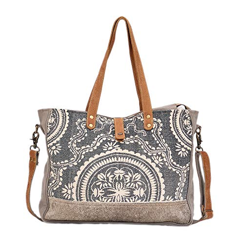 Myra Bag Partisan Upcycled Canvas Cowhide Leather Weekender Bag S 1273 Travel Totes Luggage Travel Gear Every bag is truly handcrafted with spirit of vintage see more of myra bag on facebook. nomap