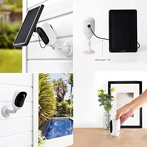 Reolink Argus Pro Rechargeable Battery Solar Powered Outdoor Wireless Security Camera 1080P WiFi CCTV IP Camera Weatherproof 2-Way Audio Night Vision PIR Motion Detection Built-in SD Card Slot