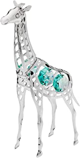 Silver Plated Giraffe ornament decorated with authentic Swarovski Crystal Elements