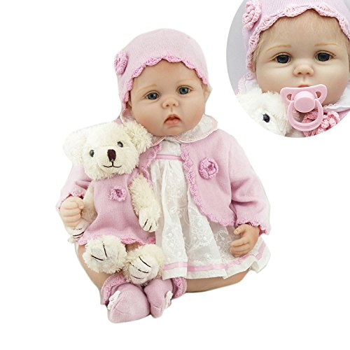 Npk New 43cm 18inch Handmade Realistic Silicone Reborn Dolls With Lovely One-piece Garment Best Bebe Reborn As Toys For Girls Toys & Hobbies Dolls & Stuffed Toys