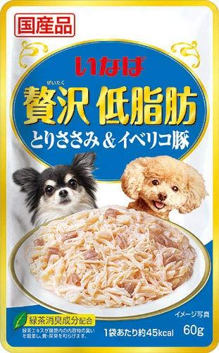 (まとめ買い)いなばペットフード 贅沢低脂肪 とりささみ&イベリコ豚 60g 【×32】