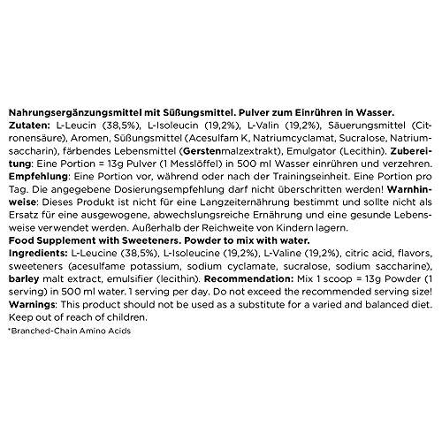 ESN Nitro BCAA Powder, Pro Series, Raspberry Ice-Tea, Beutel mit Dosierlöffel, 1er Pack (1 x 500g) - 3