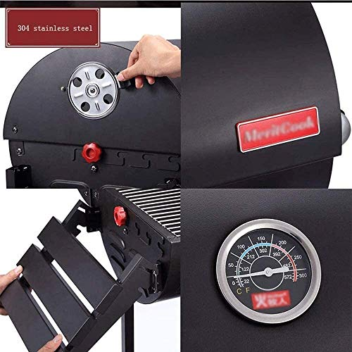 51nt7E8rPGL - KDKDA Charcoal Grill Premium-Holzkohlegrill aus Gusseisen Grill Großen Picknick Patio Grill Barbecue Haushalt Charcoal Grill Villa Garden Grill Große Grill im Freien dicken Stahlplatte Geschmorte