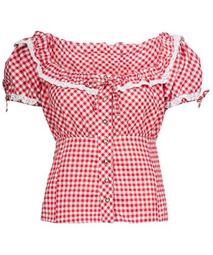 Tracht & Pracht - dames katoen - blouse voor klederdracht - blouse ruit
