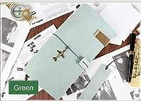 本革のノートブック 3 インサート PVC ポケット手作りトラベルジャーナルで純粋な新鮮なスタイル日記スケッチブックプランナー