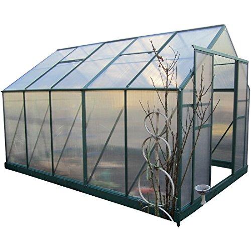 9m² PROFI ALU Gewächshaus Glashaus Treibhaus inkl. Stahlfundament u. 4 Fenster, mit 6mm Hohlkammerstegplatten - (Platten MADE IN AUSTRIA/EU) inkl. 2 autom. Fensteröffner von AS-S