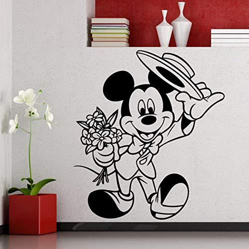 Anime Cartoon Wall Stickers Children Bedroom Kindergarten Cartoon Vinyl Decals Home Room Interior Decoration Cute Flower Mural