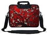 Meffort Inc Neoprene Laptop Shoulder Briefcase Bag Carry Case Handbag for 15 15.6 inch MacBook Notebook Computer - Vincent Van Gogh Cherry Blossoming