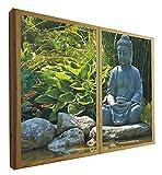 Ventanas Falsas Decorativas Iluminada Buda Zen