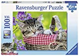 Ravensburger Sleeping Kitten 100 Piece Jigsaw Puzzle for Kids – Every Piece is Unique, Pieces Fit Together Perfectly