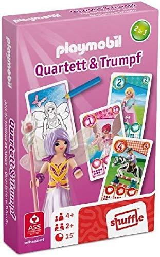 Ass Spielkartenfabrik; Spielkartenfabrik Altenburg Playmobil Quartett & Trumpf - Girls (Kinderspiel)