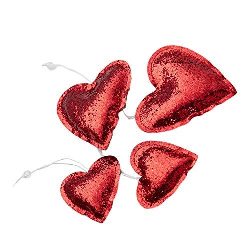 Adornos de corazón de estrella de San Valentín, adornos de estrella Corazón estrella Adornos árbol Navidad en forma Adorno colgante de corazón de estrella Decoraciones San Valentín Aniversario
