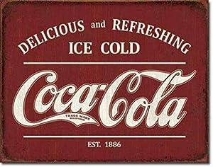 Kexle Vintage Tin Metal Sign Coca Cola Coke Funny Wall Decor Art 8x12