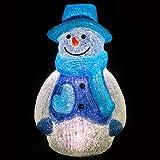 スノーマン イルミネーション LED Lサイズ ブルー 雪だるま モチーフ 3D