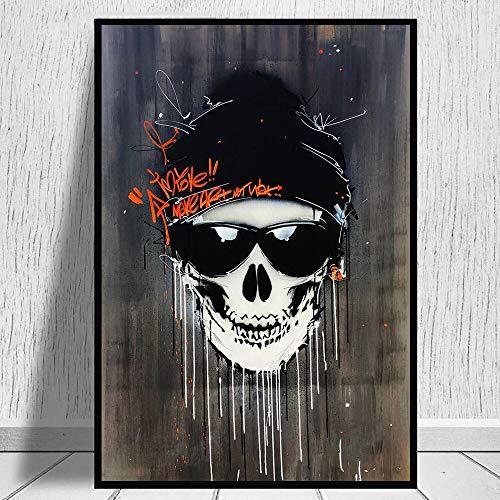 Puzzle 1000 piezas Imagen de arte de pintura de cráneo de arte de graffiti moderno puzzle 1000 piezas animales Rompecabezas de juguete de descompresión intelectual educativo d50x75cm(20x30inch)