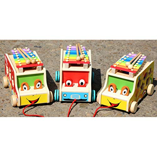 For Sale! nobrand Chenzinan Wooden Pull Bus Musical Instrument with 8 Notes Xylophone Percussion Ear...