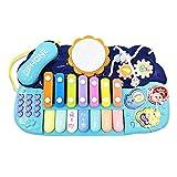 Nrpfell Juguetes Musicales 7 en 1 para NiiOs PequeeOs Piano ElectróNico XilóFono Juguetes de Batería Instrumentos Multifuncional para NiiOs Juguetes de Aprendizaje (B)