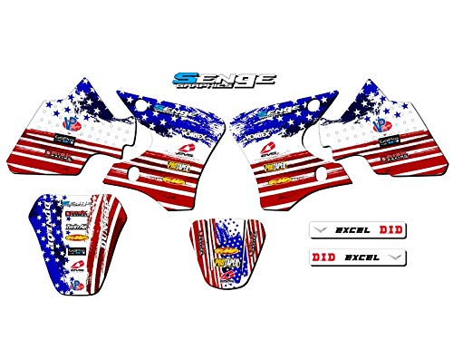 2000-2008 TTR 90, Merica Base kit, Senge Graphics, Compatible with Yamaha