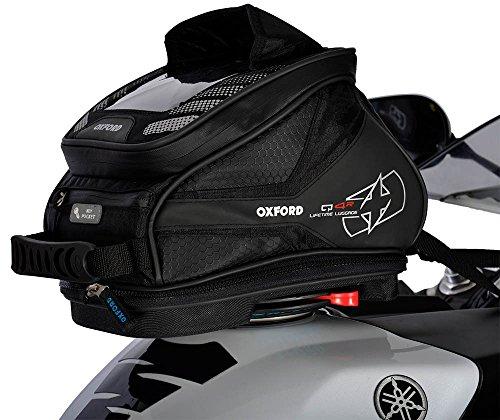 Oxford q4r Quick Release Motorrad Tank Bag-Schwarz 4Liter