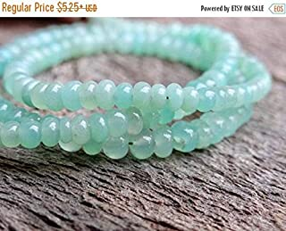 Jewel Beads Natural Beautiful jewellery Semi Precious Glowing AAA Shaded Australian Green Apple Chrysoprase | Smooth Plain Rondelles| 2.5-4mm | Sold in Sets of 12 Rondelles by SizeCode:- JBB-6887