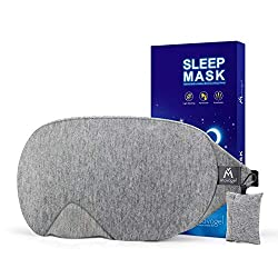 🌙 2019 NEW DESIGN - We listen to your feedback! After long-term research and data, we update every detail and make a better ergonomic sleeping mask design to fit every head size. 🌙 PERFECT LIGHT BLOCKOUT ANYWHERE, ANYTIME - This sleep mask uses paten...