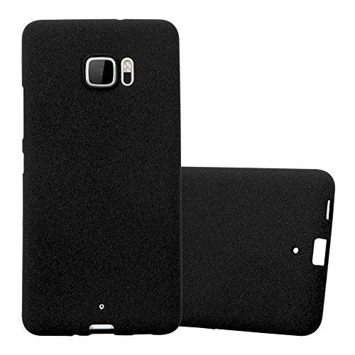 Cadorabo Funda para HTC U Ultra en Frost Negro - Cubierta Proteccíon de Silicona TPU Delgada e Flexible con Antichoque - Gel Case Cover Carcasa Ligera