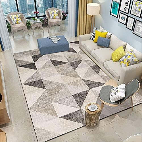 Kunsen hogar Alfombra despacho Alfombra de la Sala de Estar Gris Moderna Resistente al Desgaste Rectangular y Resistente a Las Manchas Antideslizante para alfombras 140X200CM 4ft 7.1' X6ft 6.7'