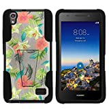 TurtleArmor | Compatible with Huawei Pronto LTE Case | H891L | SnapTo G620 [Gel Max] Hard Shell Soft Silicone with Kickstand Case - Hawaiian Flowers